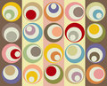 Retro colorful circles collage Royalty Free Stock Photos