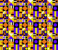 Retro Colors Geometric Pattern Royalty Free Stock Photos