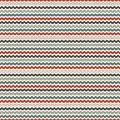 Retro colors horizontal wavy stripes seamless pattern. Blue and red repeated lines wallpaper with classic motif. Royalty Free Stock Photo