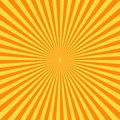 Retro comic book background. Vintage yellow sun rays. Pop art style