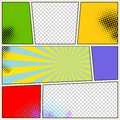Retro Comic Book Vector Background Royalty Free Stock Photo