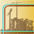 Retro Construction Background Royalty Free Stock Photography