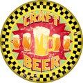 Retro craft beer advertising sign