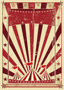 Retro cream circus letter a vintage poster for your advertising Royalty Free Stock Image