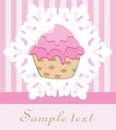 Retro cupcake Royalty Free Stock Photo