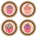Retro cupcakes Royalty Free Stock Image