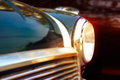 Retro design classic of vintage car, colorful soft and blur concept Royalty Free Stock Photo