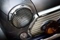 Retro design classic of vintage car head light, soft and blur concept