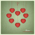 Retro design of valentines card vector love design illustration Stock Photo