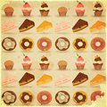 Retro Dessert Background Stock Photo
