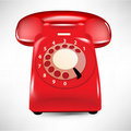 Retro dial style house telephone Stock Photography