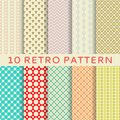 Retro different vector seamless patterns tiling endless texture can be used for wallpaper pattern fills web page background Royalty Free Stock Images