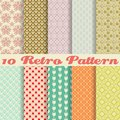 Retro different vector seamless patterns tiling endless texture can be used for wallpaper pattern fills web page background Stock Photography