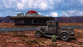 Retro Diner Route 66 Illustration Royalty Free Stock Photo