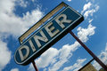 Retro diner sign Royalty Free Stock Photos