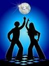 Retro Disco Dancers Blue/eps