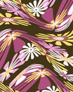 Retro distorted floral graphic design Royalty Free Stock Photos
