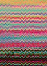 Retro distorted lines background a soundwaves Royalty Free Stock Photo