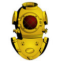 Retro diving helmet Stock Photography
