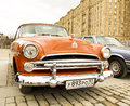 Retro dodge moscow april car on rally of classical cars on poklonnaya hill april in town moscow russia Stock Photography