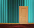 Retro Door in the Wall Royalty Free Stock Photography