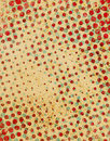 Retro dots red and cyan dot pattern with stains Royalty Free Stock Photos