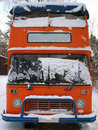 Retro double-decker English bus Stock Image