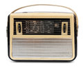 Retro draagbare radio Royalty-vrije Stock Fotografie