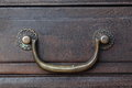 Retro drawer handle Royalty Free Stock Photo