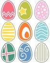 Retro Easter Eggs Set Royalty Free Stock Photo