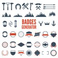 Retro Emblem Generator is set of icons, badges, ribbons and other useful design elements for retro emblem. Vector art.