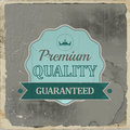 Retro emblem or label of premium quality for vintage design illustration Royalty Free Stock Photo
