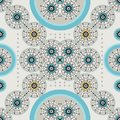 Retro ethnic blue sophisticated seamless pattern Royalty Free Stock Photos