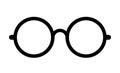 Retro eye glasses vector icon Royalty Free Stock Photo
