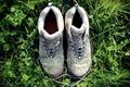 Di sporco stivali verde
