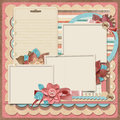 Retro family album.365 Project. Scrapbooking templates. Royalty Free Stock Photo