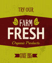 Retro farm fresh poster vintage style products Royalty Free Stock Images