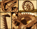 Retro farming objects a set of related Royalty Free Stock Photo