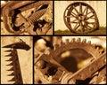 Retro farming objects Royalty Free Stock Photo