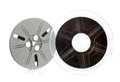 Retro film reel vintage super isolated on white Royalty Free Stock Photo