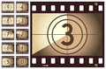 Retro Film Strip Countdown Royalty Free Stock Photo