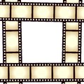Retro film strip photo frame on white background eps file available Royalty Free Stock Images