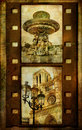 Retro filmstrip -Paris Stock Image