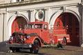 Retro fire car Royalty Free Stock Photo