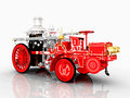 Retro fire engine computer generated d illustration with a Stock Image