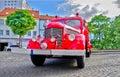 Retro fire truck Royalty Free Stock Photo