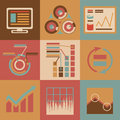 Retro flat design style business infographics Stock Images