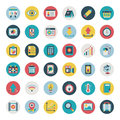 Retro flat web icon set cartoon vector illustration Royalty Free Stock Images