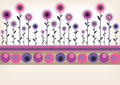 Retro floral border Royalty Free Stock Photography