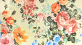 Retro Floral Pattern Fabric Background Vintage Style Royalty Free Stock Photo